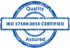 ISO 17100:2005 certified